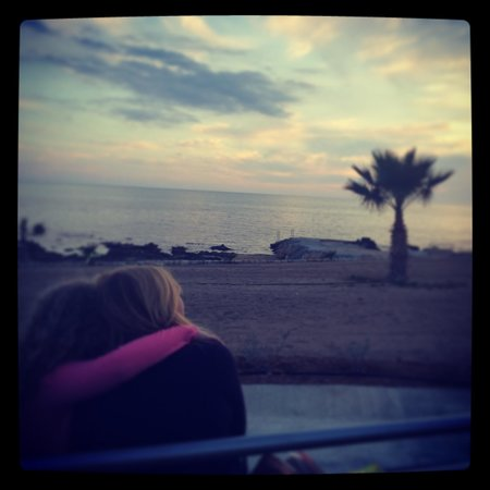 Kefalos Beach Tourist Village: Watching the sunset with my little girl