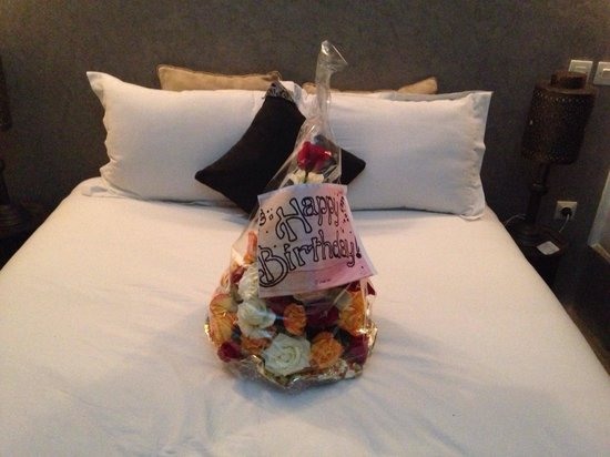 Riad Baba Ali: Bouquet i received from the staff on my birthday!