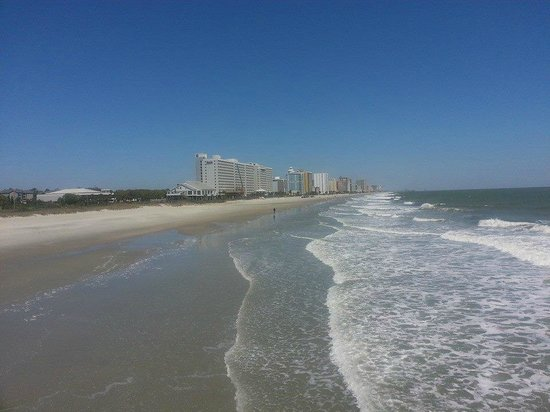 A quiet moment picture of springmaid pier myrtle beach for Myrtle beach pier fishing report
