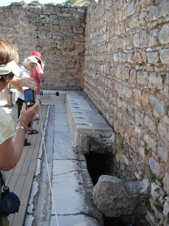Part view of the latrines at Ephesos