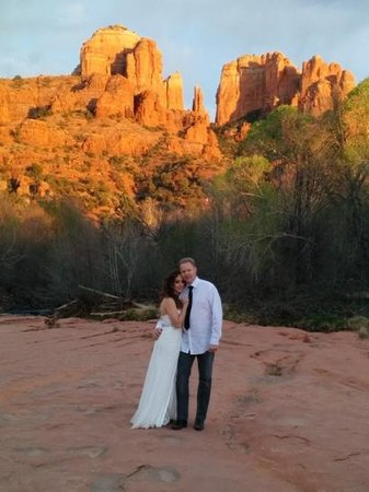Sedona Cathedral Hideaway: we were married a hop, skip, and a leap from our b&b! amazing!
