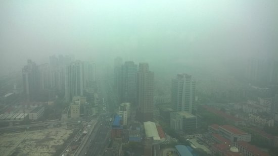 Novotel Atlantis Shanghai: View from room 3506 on a smoggy day