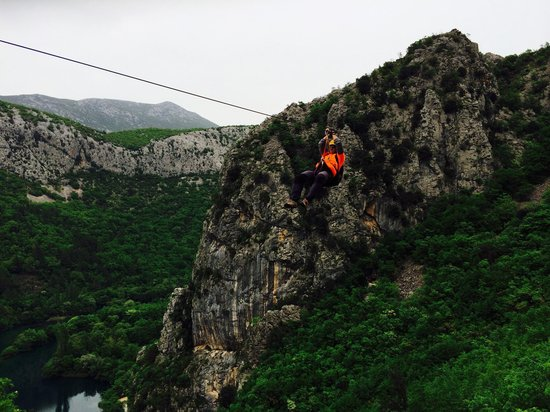 Omis, Croatia: Ivan showing us how it's done :)