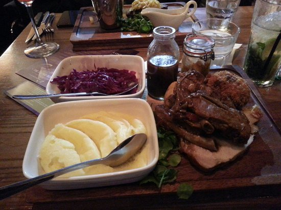 Pork block - Picture of The Living Room, Liverpool - TripAdvisor