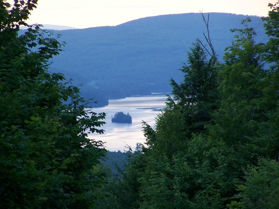 Pine Grove Lodge and Cabins: View from mountain across the street from the lodge