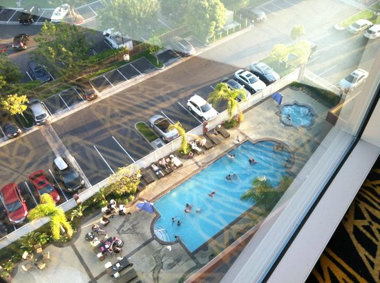 The view from your room 39 s front door picture of embassy for Garden grove pool fairfield