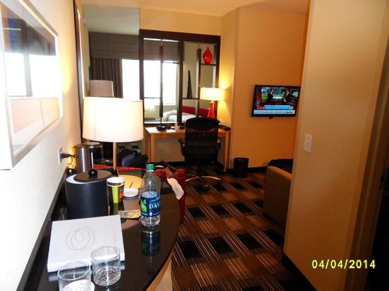 room view from door picture of cambria suites miami. Black Bedroom Furniture Sets. Home Design Ideas