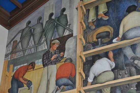 Sfai snaps picture of san francisco art institute san for Diego rivera mural san francisco art institute