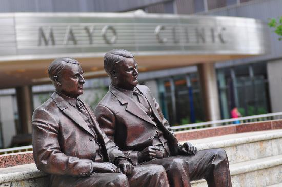 Rochester, MN: Home of the Mayo Clinic, Feith Statuary Park features bronze statues of the Mayo brothers