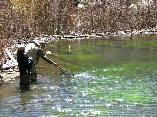 The first catch picture of fagan 39 s guided fly fishing for Red river new mexico fishing
