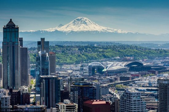 View From The Top Picture Of Space Needle Sky City Seattle Tripadvisor
