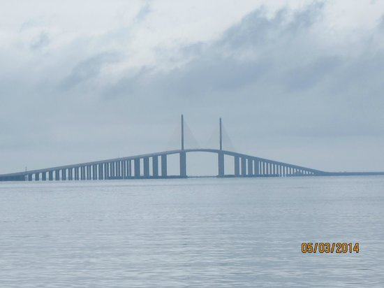 View from the south rest area picture of sunshine skyway for Skyway bridge fishing report
