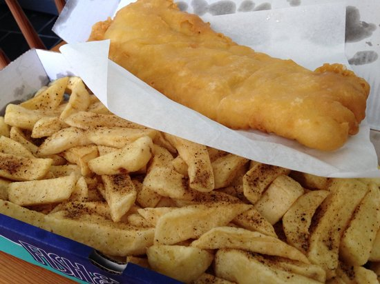 Best gluten free fish and chips review of shakey shakey for Gluten free fish and chips
