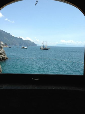 Santa Caterina Hotel: view from the gym
