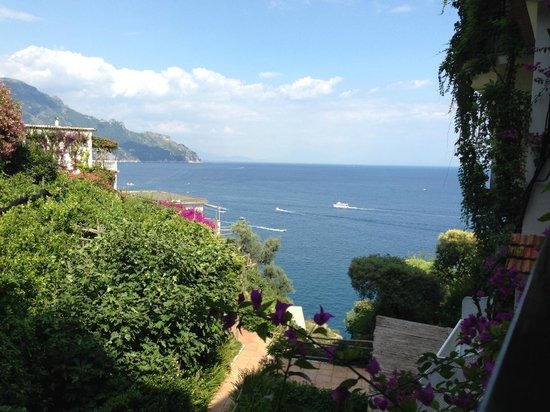 Santa Caterina Hotel: view from our room overlooking their lemon orchard