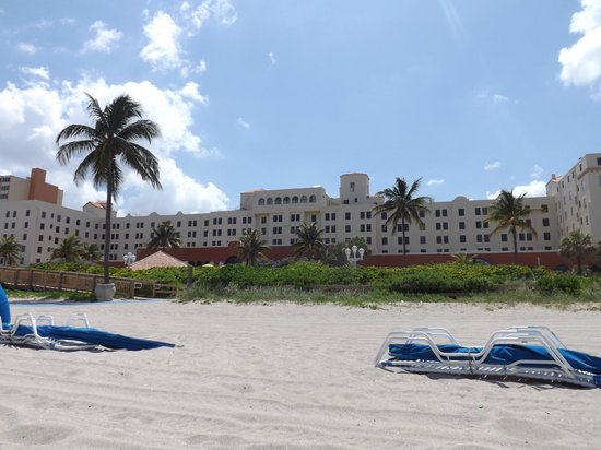 hotel view from beach picture of historic hollywood. Black Bedroom Furniture Sets. Home Design Ideas