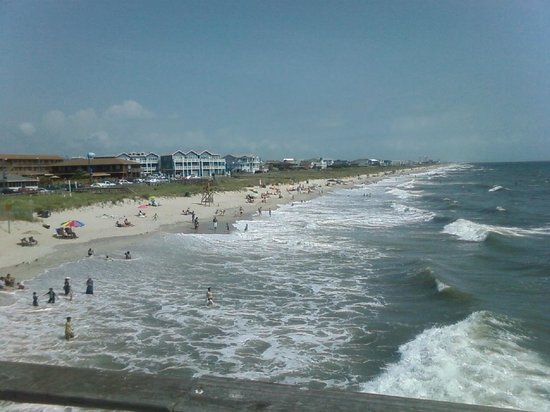 View from the pier house picture of kure beach pier for Kure beach fishing report