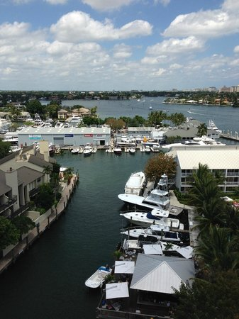 Hilton Fort Lauderdale Marina: great view of the marina