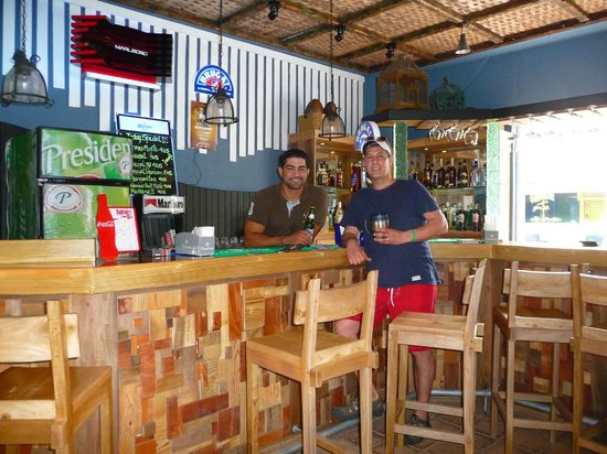 Grand Paradise Playa Dorada: Traguilos bar at the Mini Mall, just out side of resort. Awesome Caesars!