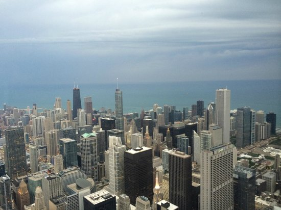 Looking Down Picture Of Willis Tower Skydeck Chicago