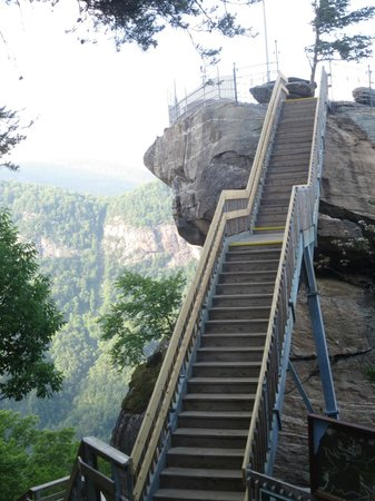 Stairs - Picture of Chimney Rock State Park, Chimney Rock ...