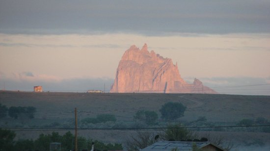 Shiprock Rock Formation: Shiprock at sunrise