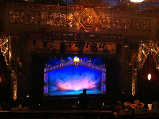 Mezzanine seating; excellent view - Picture of Pantages ...