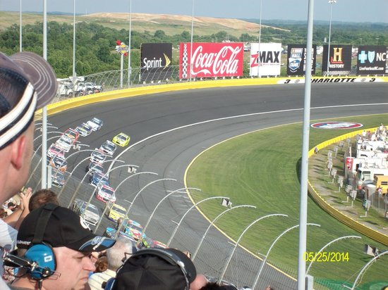 View of the stands from pit row picture of charlotte for Charlotte motor speedway concord parkway south concord nc