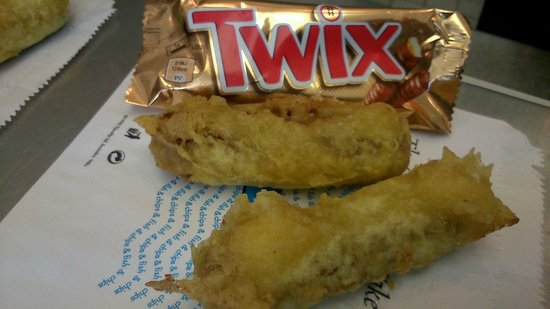 Deep fried battered twix picture of longs fish chips for Best fish and chips nyc