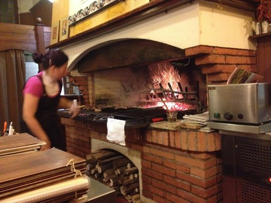 Open Fire Cooking Picture Of Trattoria Marianaza Faenza