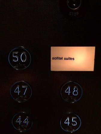 Sofitel Melbourne on Collins: Pressing this button while others are in the elivator is PRICELESS!!
