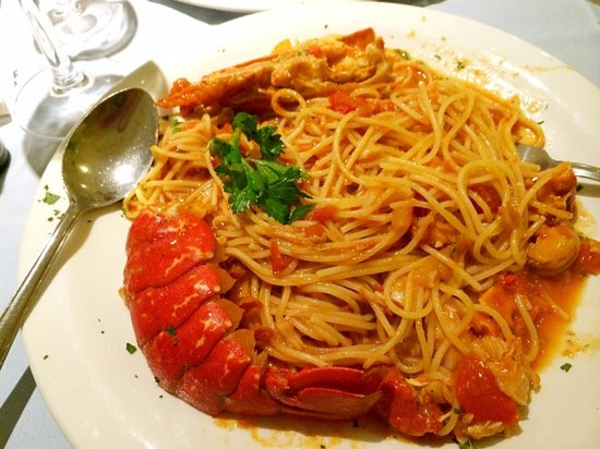 maine lobster spaghetti lobster with spaghetti lobster pasta angel ...