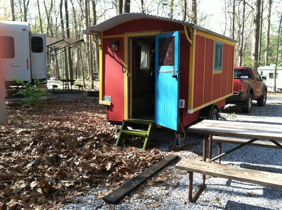 Woodbine, MD: My little red wagon at Ramblin Pines