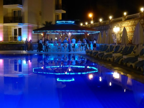 Pool Bar Light Up At Night Picture Of Marcan Resort