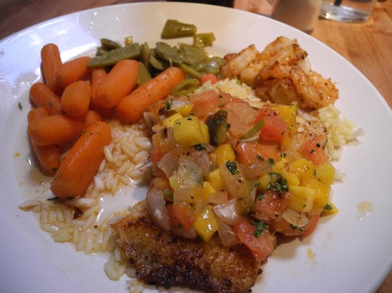 Grilled Tilapia with Mango Salsa - Picture of Cheddar's, Albuquerque ...