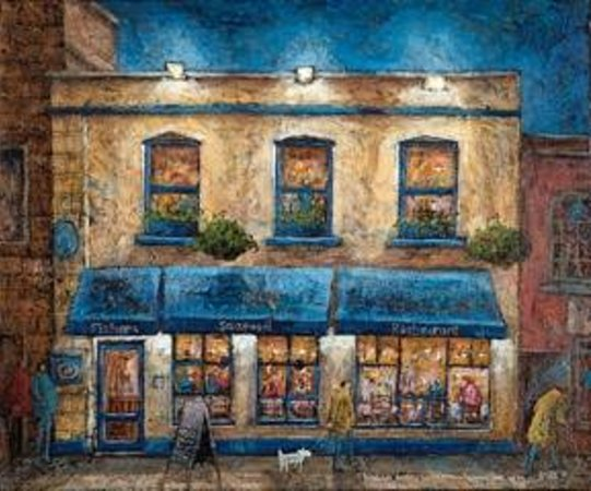 Adrian sykes painting of fishers bristol picture of for Adrian fish restaurant