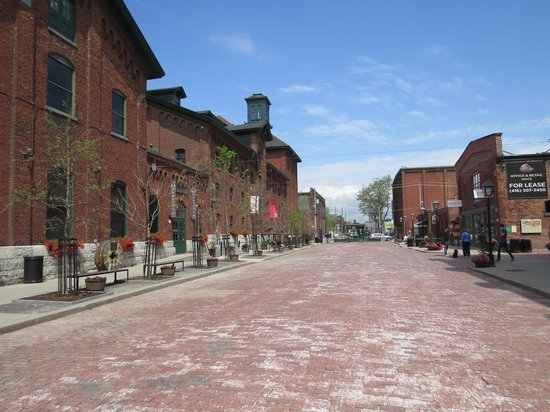 Distillery Historic District: View down main street