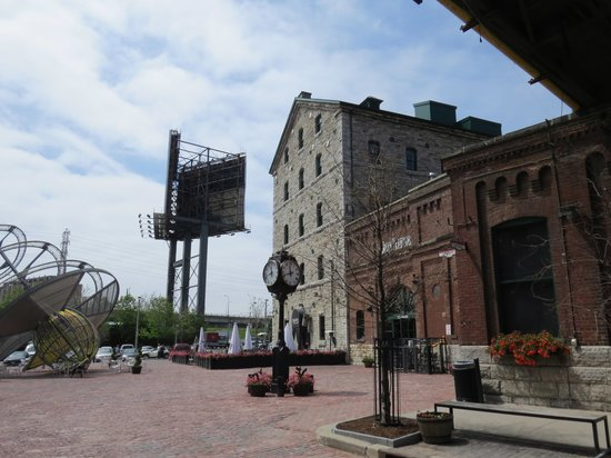 Distillery Historic District: View of old buildings