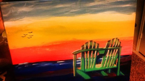 The sunset i did picture of painting with a twist for Painting with a twist locations near me