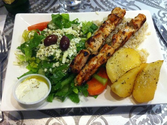 Chicken souvlaki - Picture of The Greek Souvlaki Shack, Ottawa ...