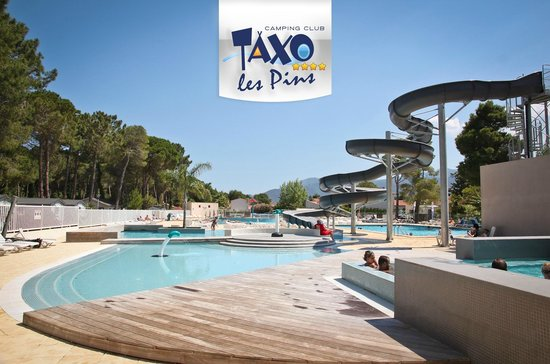 piscine avec toboggan photo de camping club taxo les pins argel s sur mer tripadvisor. Black Bedroom Furniture Sets. Home Design Ideas