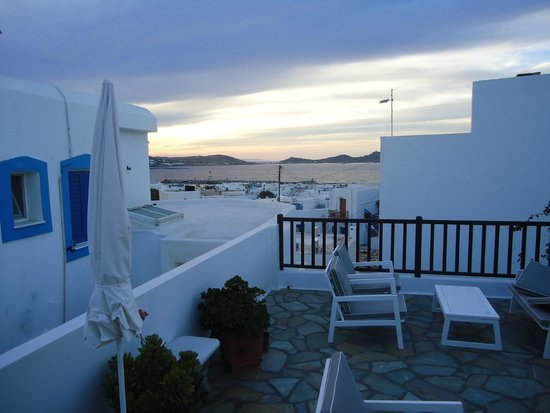 Hotel Christina: view from the rooftop terrace