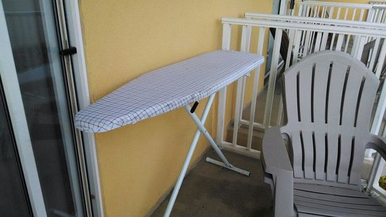 Crystal Beach Hotel: This is where we found the ironing board after checking into our room.