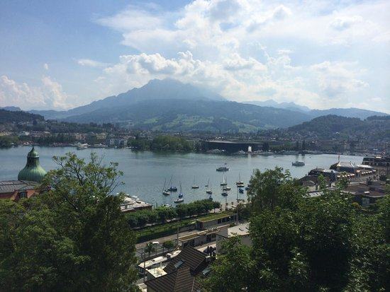 Art Deco Hotel Montana Luzern: View from Room 605