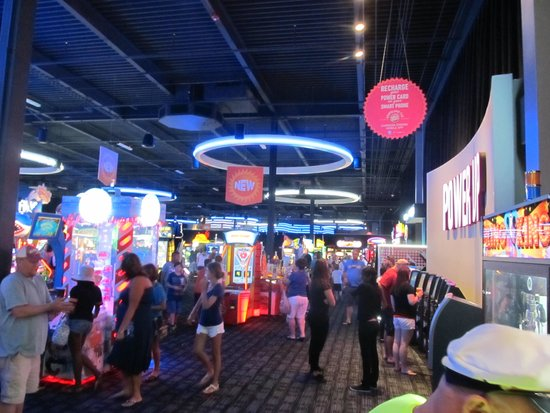 Dave and Buster's Panama City Beach, Florida. Panama City Beach's huge outdoor shopping complex, Pier Park is now home to an awesome Dave and Buster's.