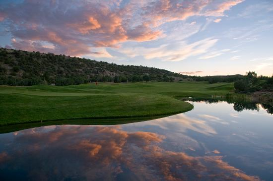 Sunset over Pinon Hills Golf Course