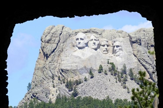 Custer, SD: This is my photo of The Famous Face through the tunnel on Iron Mt Road