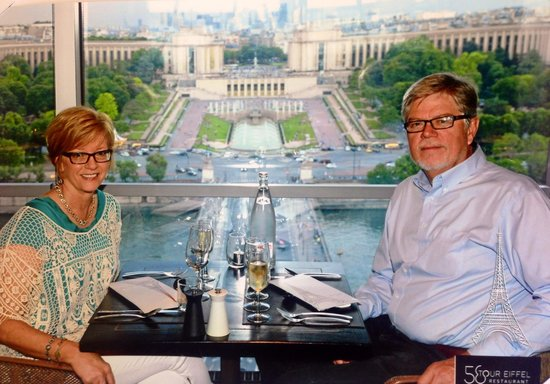 Our table view of the trocadero at the eiffel tower 58 restaurant picture o - Restaurant 58 tour eiffel ...
