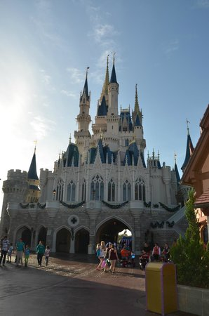 entrance to the cinderella's royal table is at the back of