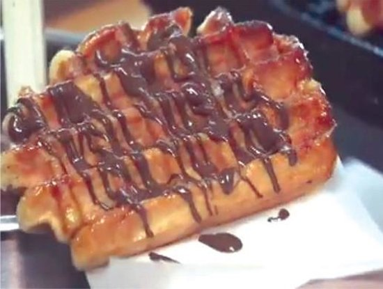Belgian Sugar Waffles - Picture of Waffle Cabin, Ocean City ...